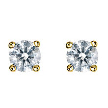 18ct yellow gold third carat diamond H-I P1 earrings - Product number 2541971
