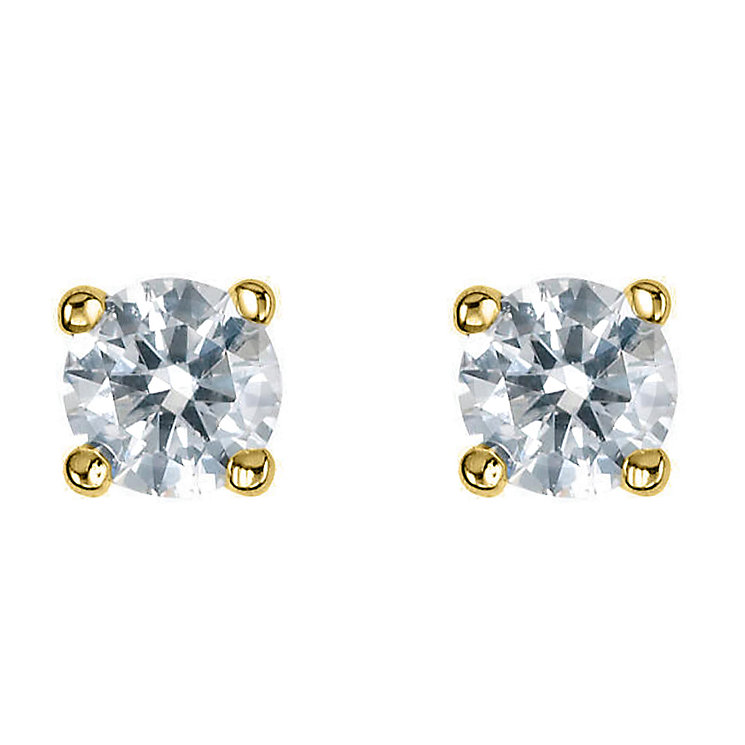 18ct yellow gold third carat diamond F-G VS2 earrings - Product number 2542021