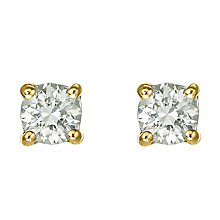 18ct yellow gold 40 point diamond  F-G VS2 stud earrings - Product number 2542080