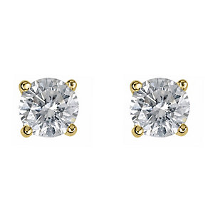 18ct yellow gold half carat diamond H-I P1 earrings - Product number 2542099