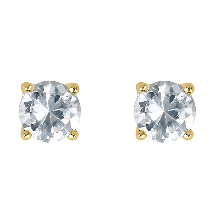 18ct yellow gold 2/3 carat diamond H-I P1 stud earrings - Product number 2542137