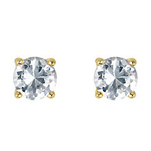 18ct yellow gold 2/3 carat diamond G-H SI1 stud earrings - Product number 2542153
