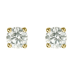 18ct yellow gold 3/4 carat diamond H-I SI2 stud earrings - Product number 2542196