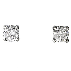 Platinum quarter carat diamond H-I P1 solitaire earrings - Product number 2542277