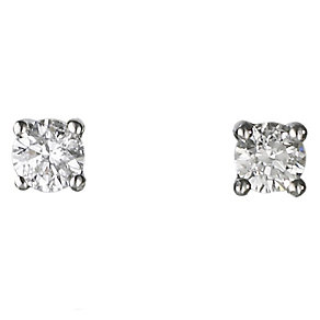Platinum quarter carat diamond G-H SI1 solitaire earrings - Product number 2542293