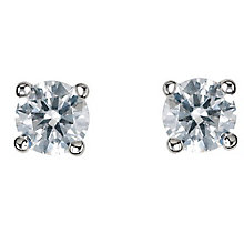 Platinum third carat diamond F-G VS2 solitaire earrings - Product number 2542358
