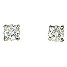 Platinum 40 point diamond H-I P1 stud earrings - Product number 2542366
