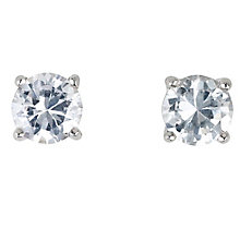Platinum three 0.25ct diamond H-I P1 stud earrings - Product number 2542390