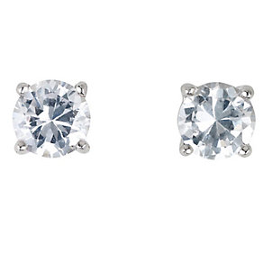 Platinum three quarter carat diamond H-I P1 stud earrings - Product number 2542390