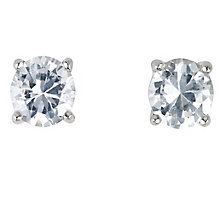 Platinum three 0.25ct diamond stud H-I SI2 earrings - Product number 2542404