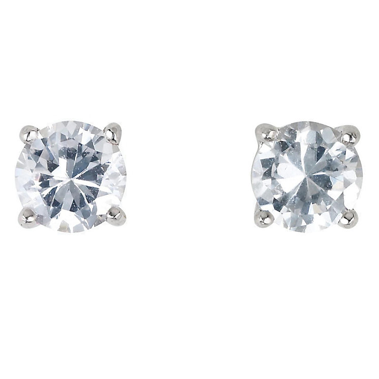 Platinum three 0.25ct diamond stud G-H SI1 earrings - Product number 2542412