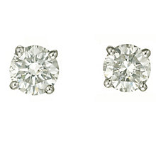 Platinum one carat diamond F-G VS2 stud earrings - Product number 2542463