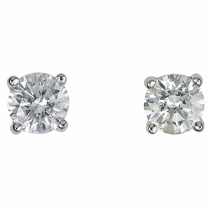 Platinum half carat diamond H-I P1 earrings - Product number 2542471