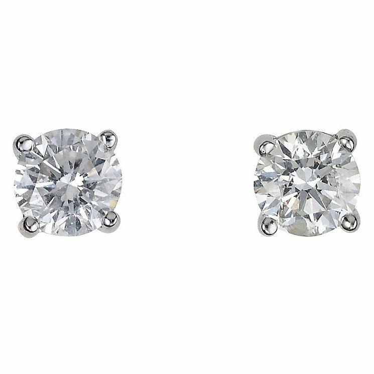 Platinum half carat diamond G-H SI1 earrings - Product number 2542498