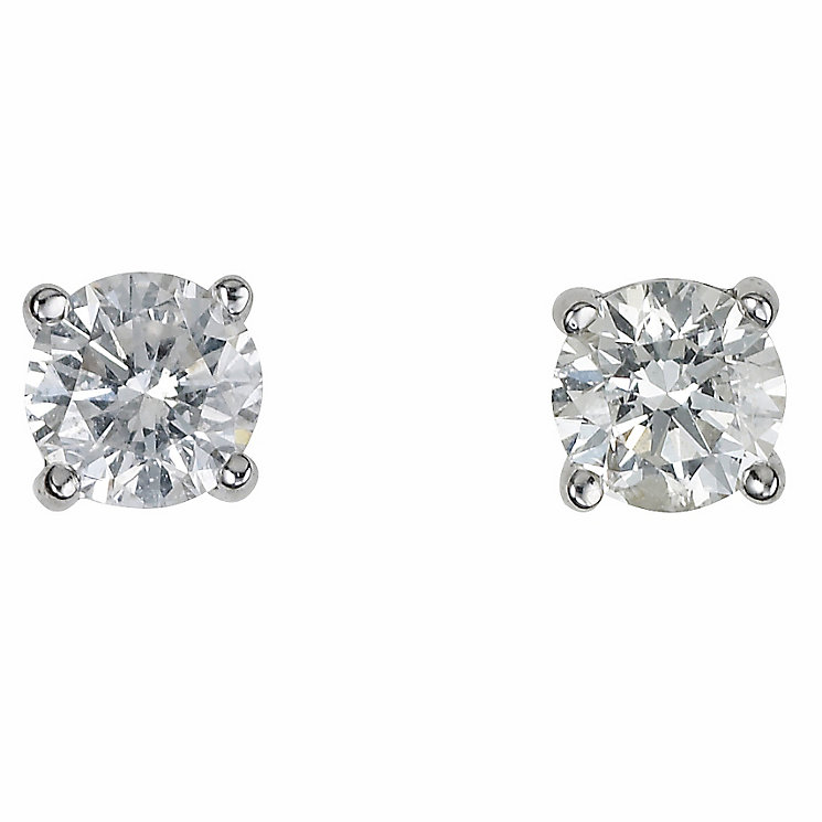 Platinum half carat diamond F-G VS2 earrings - Product number 2542501