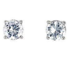 Platinum 2/3 of a carat diamond stud H-I P1 earrings - Product number 2542528
