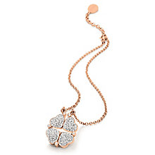 Folli Follie Heart4Heart rose gold-plated crystal necklace - Product number 2542560
