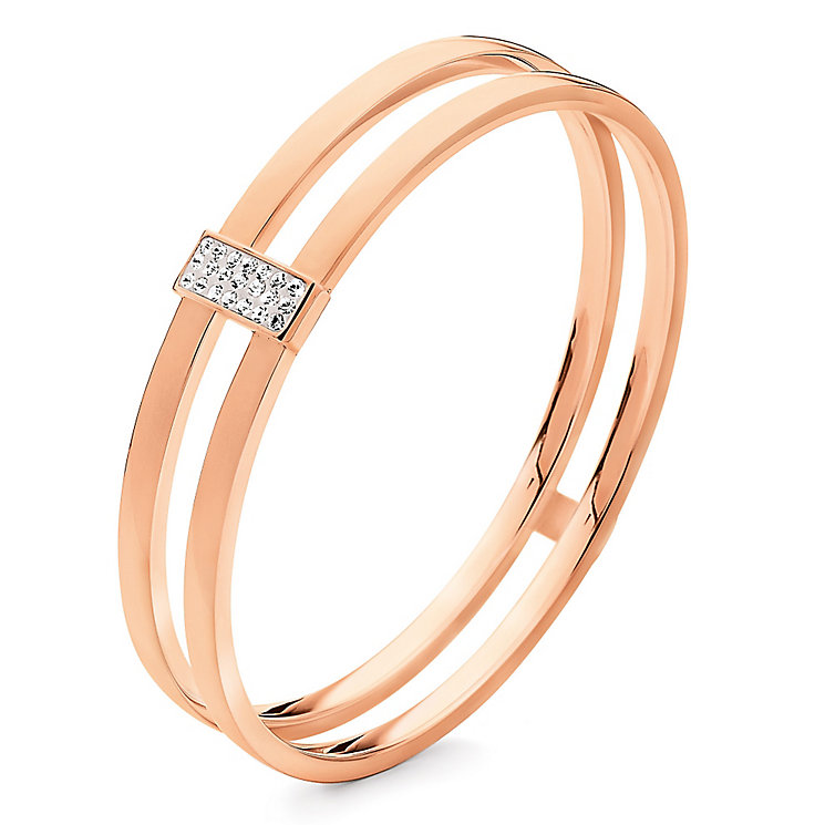 Folli Follie rose gold-plated double bangle - Product number 2542676