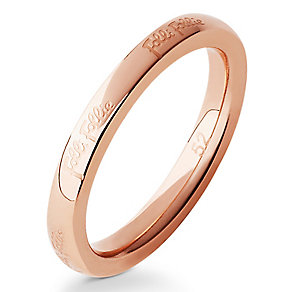 Folli Follie rose gold-plated ring size L 1/2 - Product number 2542692