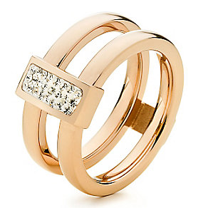 Folli Follie rose gold-plated double ring size L 1/2 - Product number 2542722