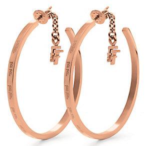 Folli Follie rose gold-plated hoop earrings - Product number 2542757