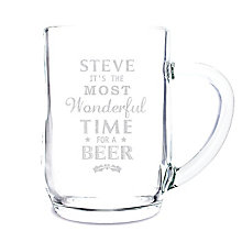 Wonderful Time For A Beer... Glass Tankard - Product number 2546655