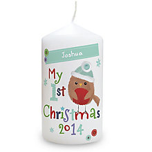 Felt Stitch Robin 'My 1st Christmas' Candle - Product number 2546752