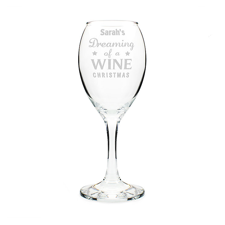 Dreaming of a Wine Christmas... Wine Glass - Product number 2546779
