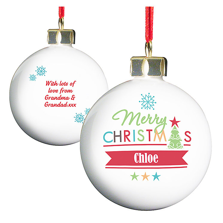 Bright Merry Christmas Bauble - Product number 2546809