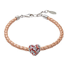 Chamilia Leather Bracelet & Swarovski Crystal Heart Bead - Product number 2546841