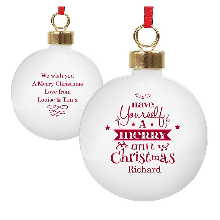 Have Yourself A Merry Little Christmas Bauble - Product number 2547872