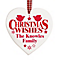Christmas Wishes Wooden Heart Decoration - Product number 2547929