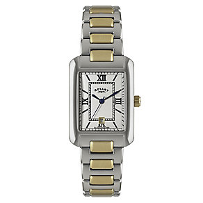 Rotary Men's Rectangular Dial & Two Tone Bracelet Watch - Product number 2548127