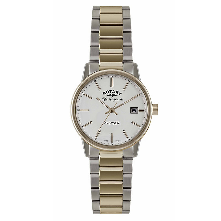 Rotary Men's Avenger Rose Gold Plate & Steel Watch - Product number 2548682