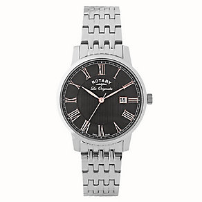 Rotary Men's Black Dial Stainless Steel Bracelet Watch - Product number 2548704