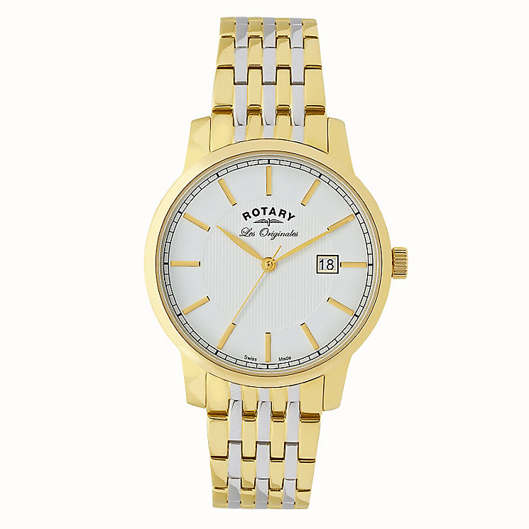 Rotary Men's Yellow Gold Plate & Steel Two Tone Watch - Product number 2548712