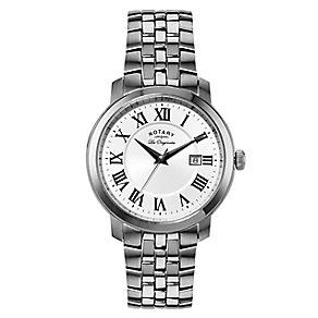 Rotary Men's Roman Numeral Stainless Steel Watch - Product number 2548720