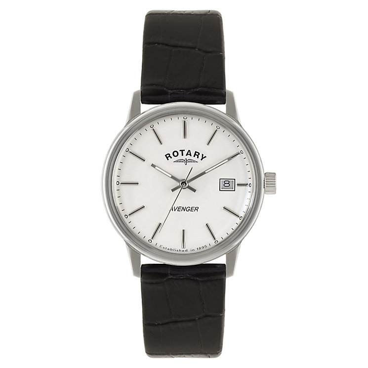 Rotary Men's Avenger Black Leather Strap Watch - Product number 2548763