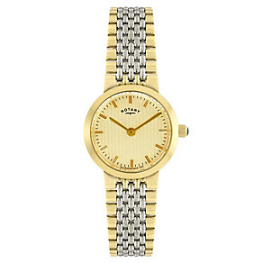 Rotary Ladies' Two Tone Gold Plated Bracelet Watch - Product number 2548925