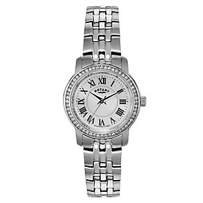 Rotary Ladies' Stainless Steel & Mother Of Peal Watch - Product number 2548941