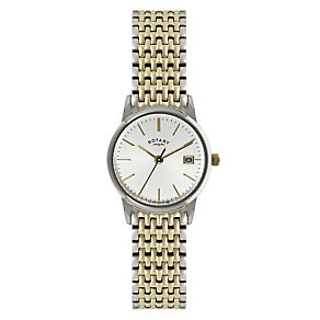 Rotary Ladies' White Dial & Two Tone Bracelet Watch - Product number 2548984