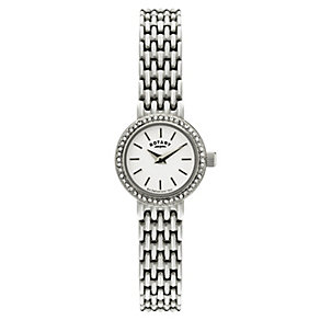 Rotary Ladies' Stone Set Stainless Steel Bracelet Watch - Product number 2549018