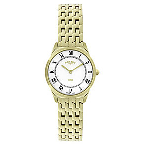 Rotary Ladies' Yellow Gold Plated Slim Bracelet Watch - Product number 2549034