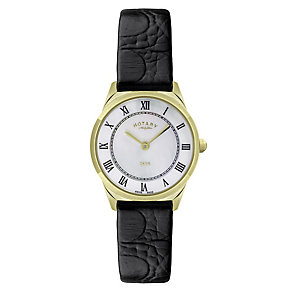 Rotary Ladies' Mother Of Pearl Yellow Gold Plate Watch - Product number 2549247
