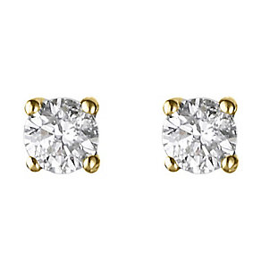 18ct yellow gold quarter carat diamond H-J I2 earrings - Product number 2549670