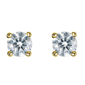 Platinum third carat diamond H-J I2 solitaire earrings - Product number 2549689