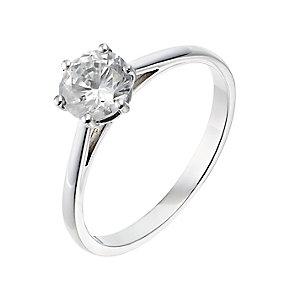 Platinum one carat diamond H-J I2/I3 solitaire ring - Product number 2549867