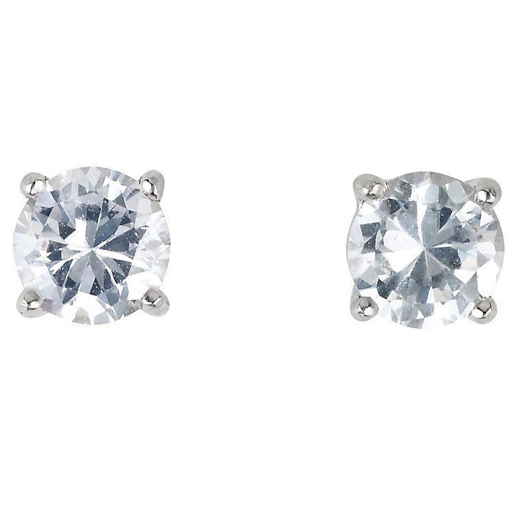Platinum 2/3 carat diamond H-J I2 stud earrings - Product number 2550024