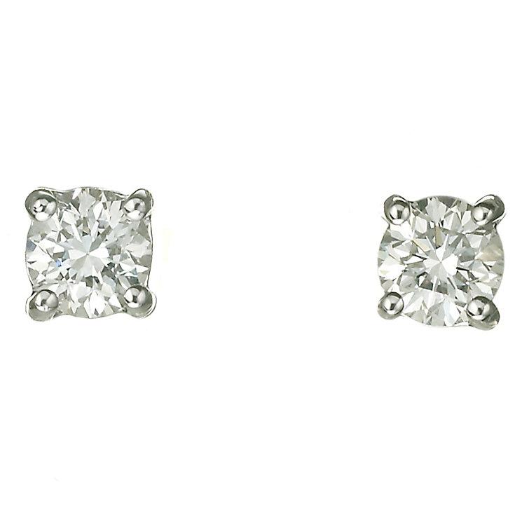 Platinum 40 point diamond H-J I2 stud earrings - Product number 2550032