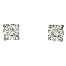 Platinum 40 point diamond H-J I2 stud earrings - Product number 2550032